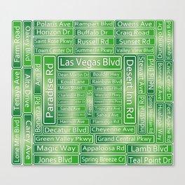 Las Vegas Street Signs Canvas Print