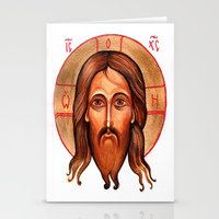 christ Stationery Cards featuring Jesus Christ by oxana zaika