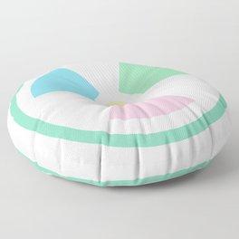 Radioactive Pastels Floor Pillow
