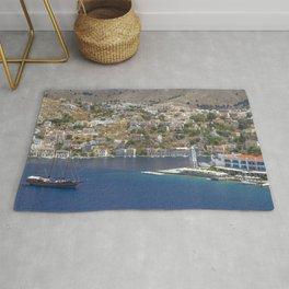 Symi Island in Greece Rug