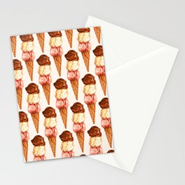 Ice Cream Pattern - Neapolitan Stationery Cards
