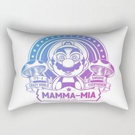 Mamma Mia Super Mario is-a Crazy Rectangular Pillow