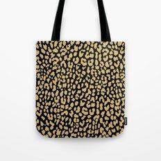 Classic Black Leopard Tote Bag