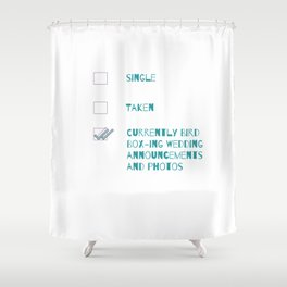 The Wedding Epidemic Shower Curtain