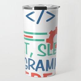 programmer program gift hacker code Travel Mug