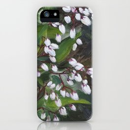 White Flowers  - Sprinkle of Freshness iPhone Case