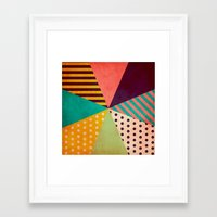 umbrella Framed Art Prints featuring Umbrella by Louise Machado