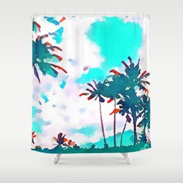 Lanikai Coconut Trees Shower Curtain
