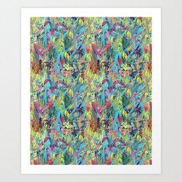Painted Jungle by Katrina Ward Art Print