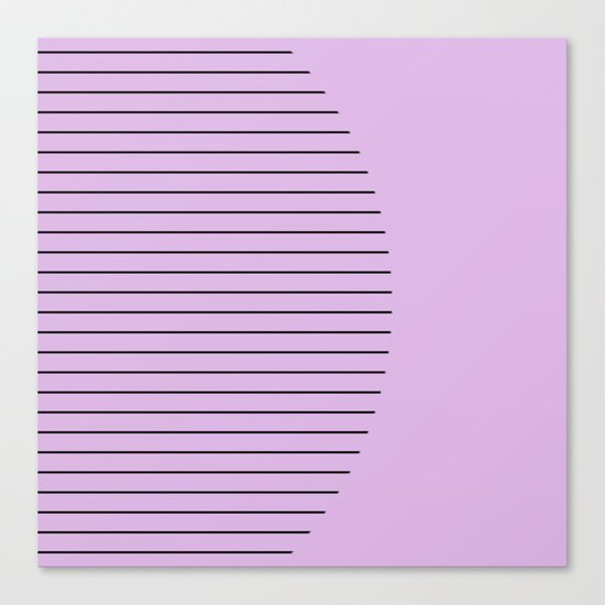 Crescent - Pastel pink and black minimalism Canvas Print
