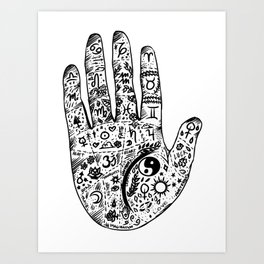 Hand Of Wisdom by Ane Teruel Art Print