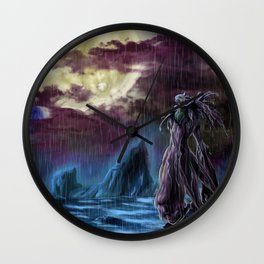 Cherubimon - in the rain Wall Clock