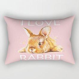 i love rabbit Rectangular Pillow