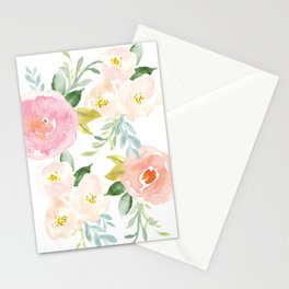 Sweet Pink Blooms (Floral 02) Stationery Cards