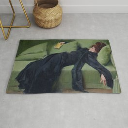 A DECADENT GIRL - RAMON CASAS Rug
