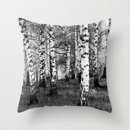 Birches 1 Throw Pillow