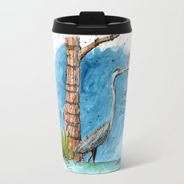 Mississippi Great Blue Heron Travel Mug