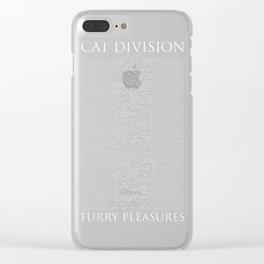 Cat Division Serif Clear iPhone Case