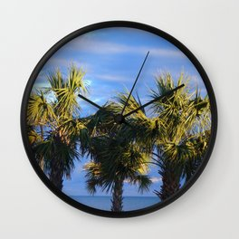 3 Little Palm Trees Wall Clock