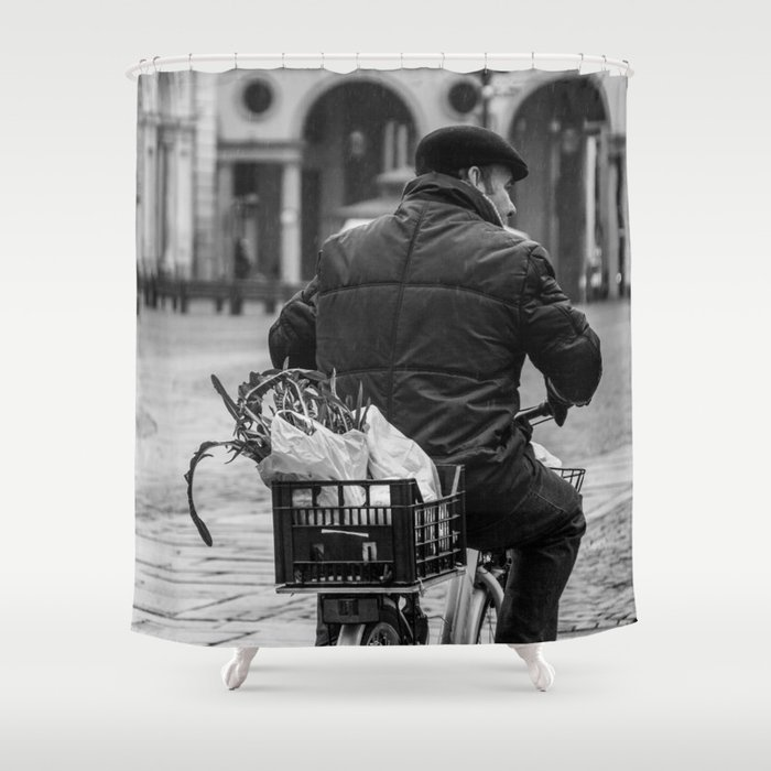Rainy Morning In Turin Shower Curtain