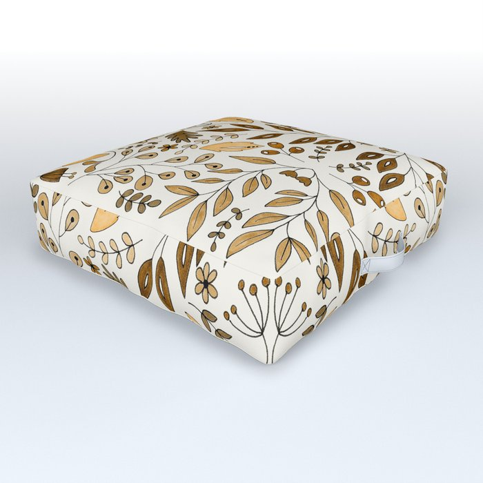 Floral Mix – Yellow Outdoor Floor Cushion