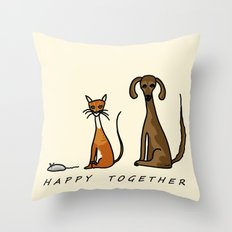 Happy Together - Domestic Throw Pillow