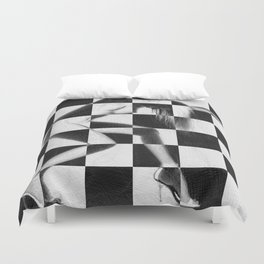 Survive Nude Woman Checkered 4 Duvet Cover