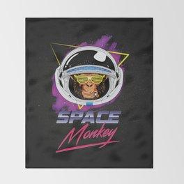 Space Monkey 1980s Throw Blanket