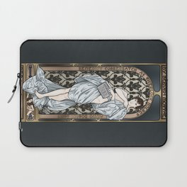 A Scandal in Belgravia - Mucha Style Laptop Sleeve