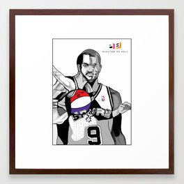 The Cubists Stylings of Tony Parker Framed Art Print