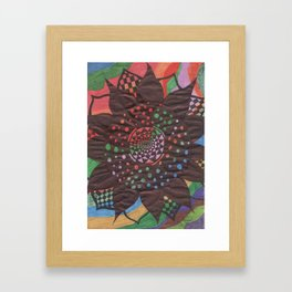 Colorful background with flower Framed Art Print