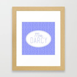 Mrs. Darcy - Baby Blue Framed Art Print