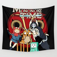 mononoke Wall Tapestries featuring Mononoke Time by RebelArtCollective