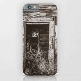 Outhouse, Hurd Round House, ND 3 iPhone Case
