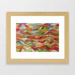 Burnt Waves Framed Art Print