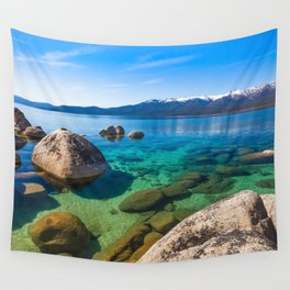 Let's Jump In At Sand Harbor, Lake Tahoe Wall Tapestry