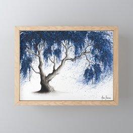 Blue Dream Tree Framed Mini Art Print