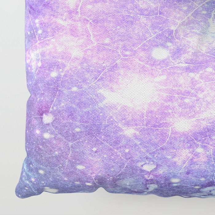 Grunge Galaxy Lavender Periwinkle Blue Floor Pillow