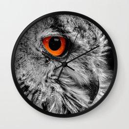 ORANGE OF MY EYE Wall Clock