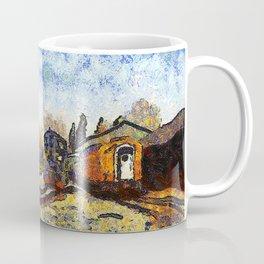 Train station reprint by Vincent van Gogh Coffee Mug