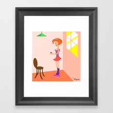 Drink with me Framed Art Print