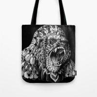 gorilla Tote Bags featuring Gorilla by BIOWORKZ