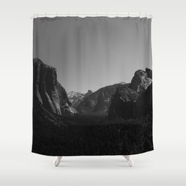 Tunnel View, Yosemite National Park Shower Curtain