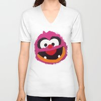 muppets V-neck T-shirts featuring Animal Muppets Babies by Roe Mesquita