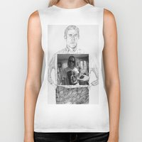 ryan gosling Biker Tanks featuring Ryan Gosling wearing Macaulay Culkin wearing Ryan Gosling wearing Macaulay Culkin  by withapencilinhand