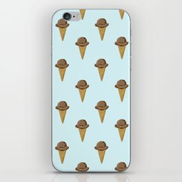 ice cream cones blue food fight apparel and gifts iPhone Skin