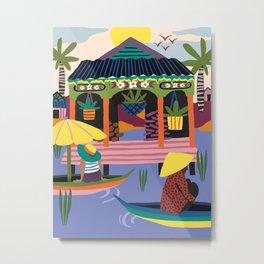 Water Village, Cambodia Metal Print