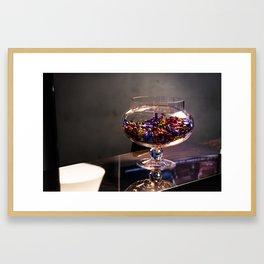 Bowl of candy Framed Art Print