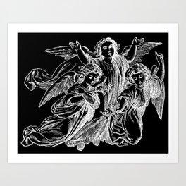 Angels   Cherubs   Vintage   Gothic   Subculture Art Print
