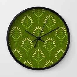 Vintage Rice Field Wall Clock